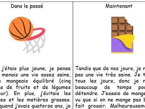 GCSE French Healthy Living - Lesson and Sentence Builder (Mode de vie avant et maintenant)