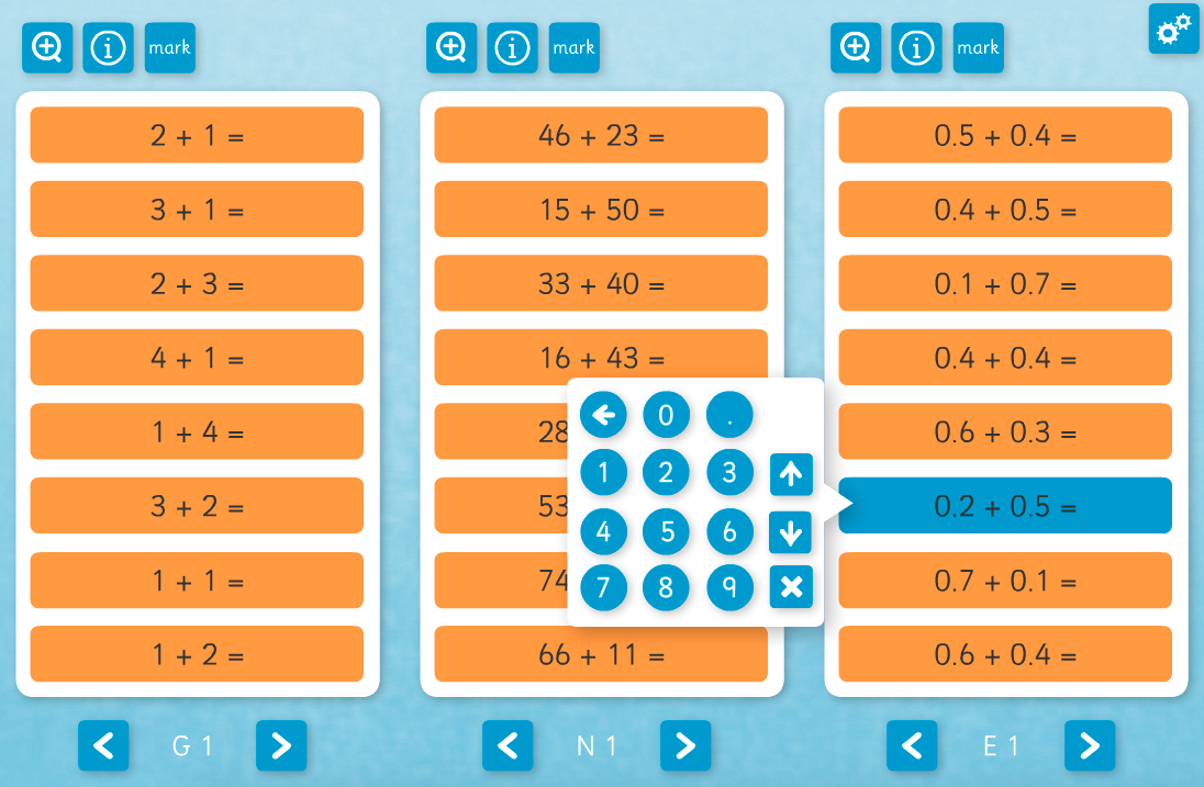 Addition Daily Interactive Tool - KS1/KS2 Number