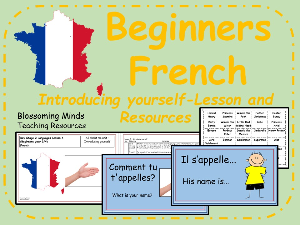 french lesson and resources ks2 introducing yourself saying your name beginners by. Black Bedroom Furniture Sets. Home Design Ideas