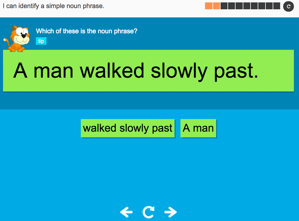 I can identify a simple noun phrase - Interactive Activity - Year 2 Spag