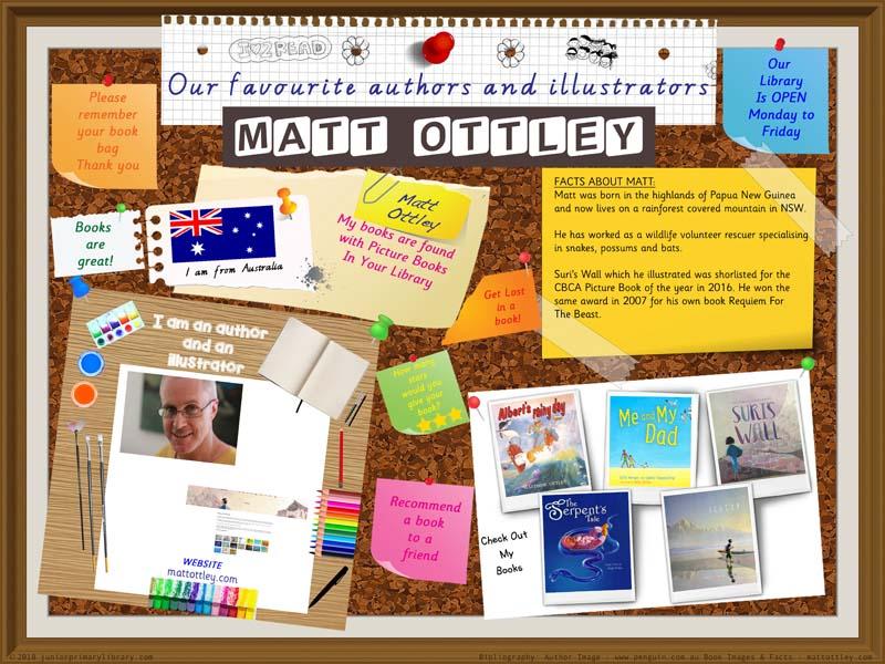 Library Poster - Matt Ottley Australian Children's Author Illustrator