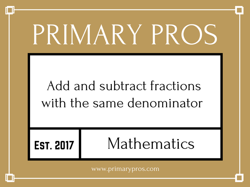 Add and subtract fractions with the same denominator
