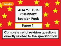 NEW AQA GCSE CHEMISTRY- TOPIC 1 PPT