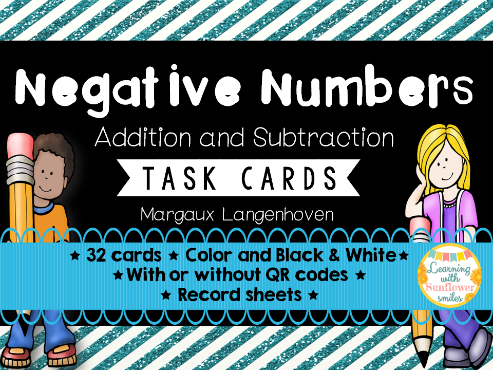 Negative Numbers (Addition and Subtraction) Task Cards