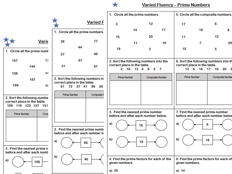 White Rose Maths - Year 5 - Block 4 - Prime Numbers (Varied Fluency)