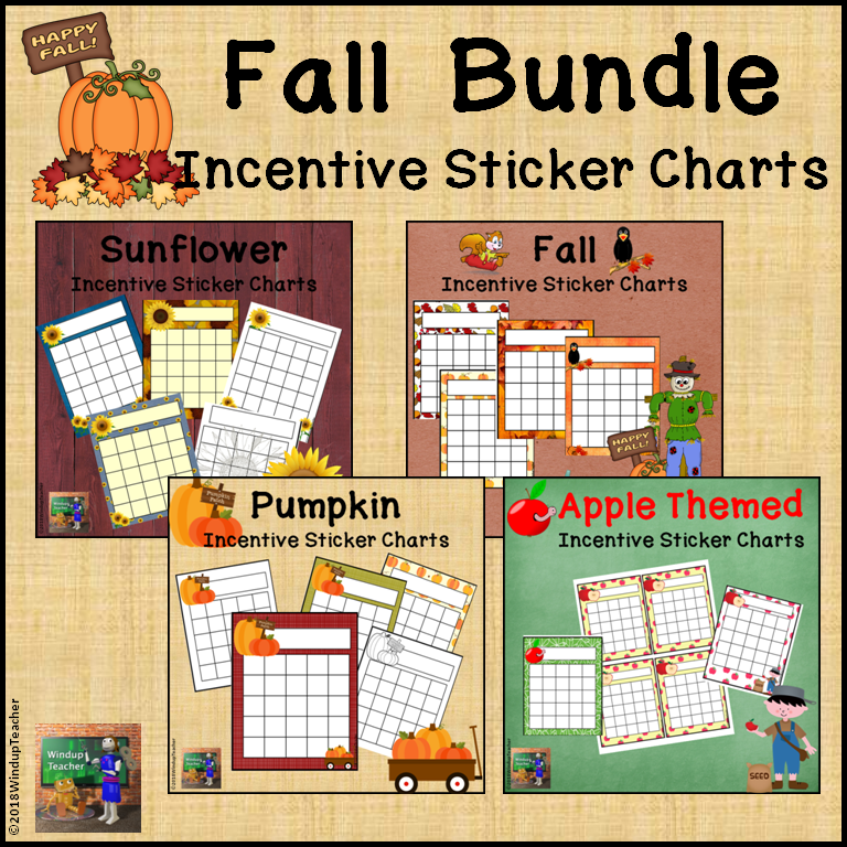 Fall Incentive Reward Charts Bundle