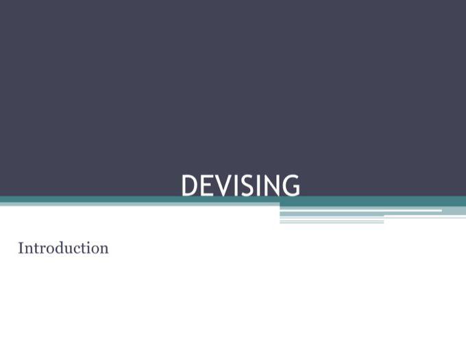 KS3  Drama Devising PPT (15 Lessons)
