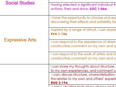 Robert Louis Stevenson IDL Interdisciplinary topic forward plan