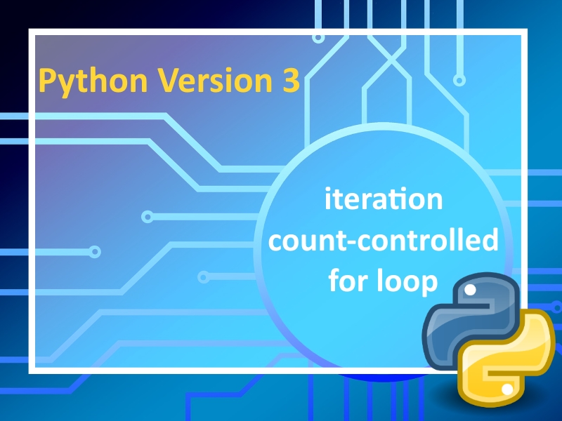 Python 3: Iteration   Lesson 1 with instructional videos