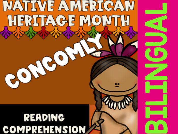 Native American Heritage Month - Concomly - Worksheets and Reading - Dual Set