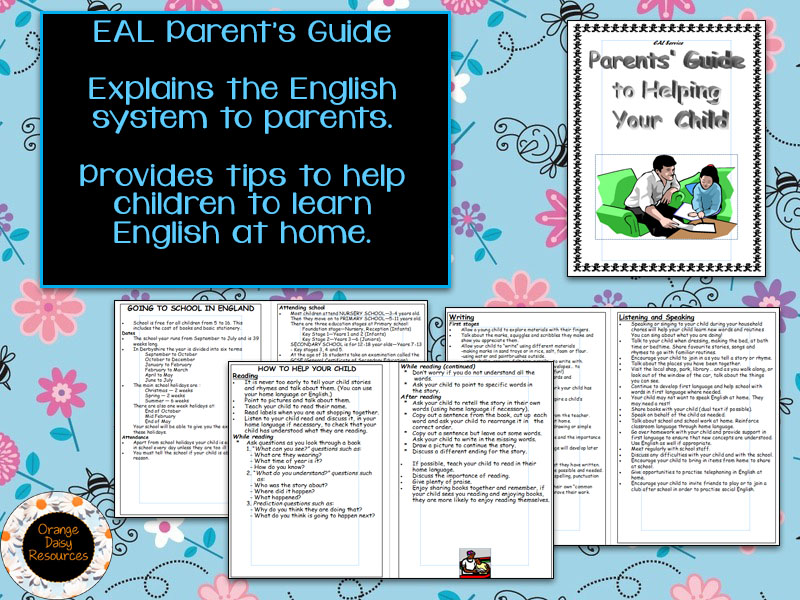 EAL 'How to help your child at school' Booklet