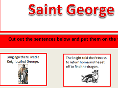KS1&2 Saint George and the Dragon story and sequencing activity