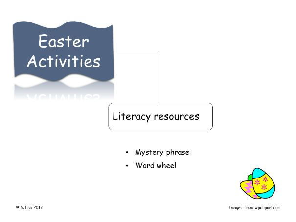 Easter Literacy Activities:  Set 2