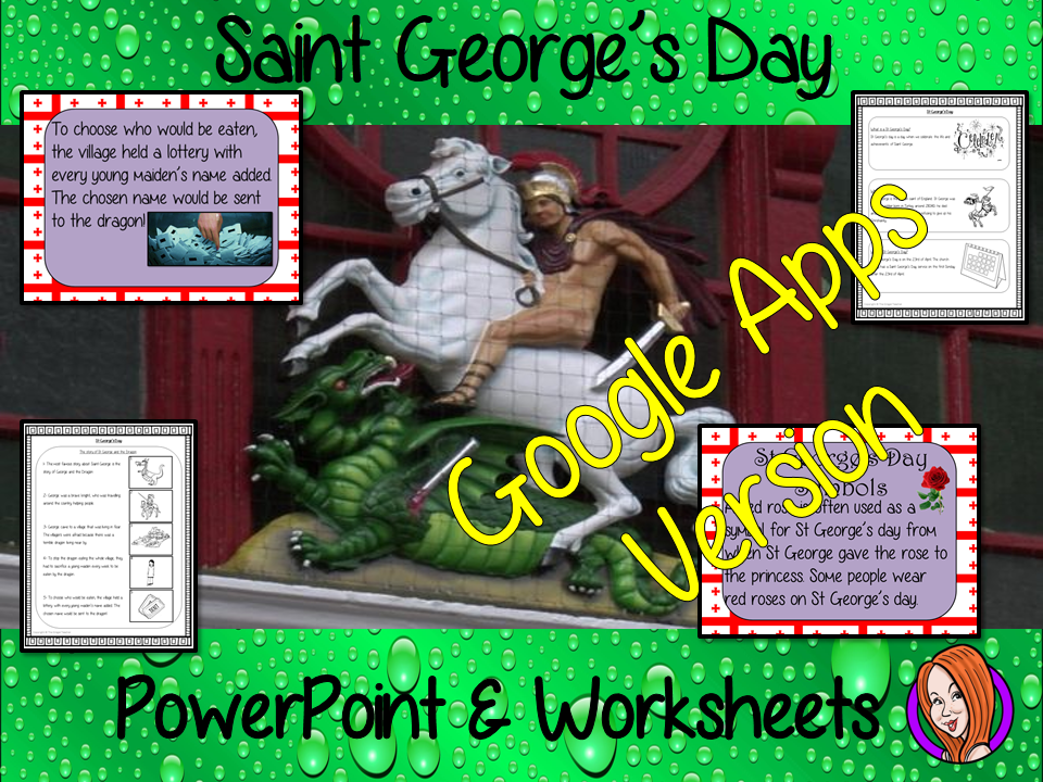 Distance Learning Saint George's Day Google Slides Lesson