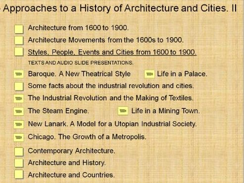 Approaches to a History of Architecture and Cities. II