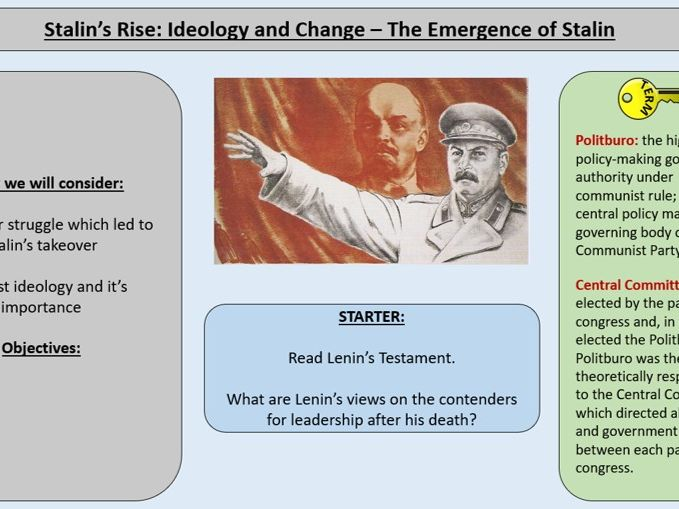 2.Stalin's Rise to Power Ideology and Change - AQA A-Level 1H Tsarist and Communist Russia 1855-196