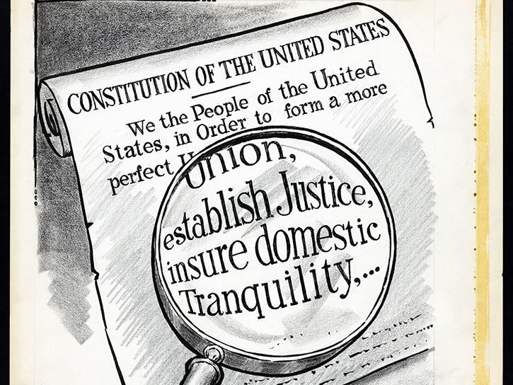 Preamble to the U.S. Constitution Image Sequencing
