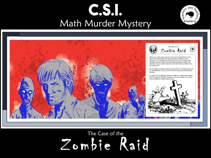 CSI: Math Murder Mystery - Zombie Raid Year 4
