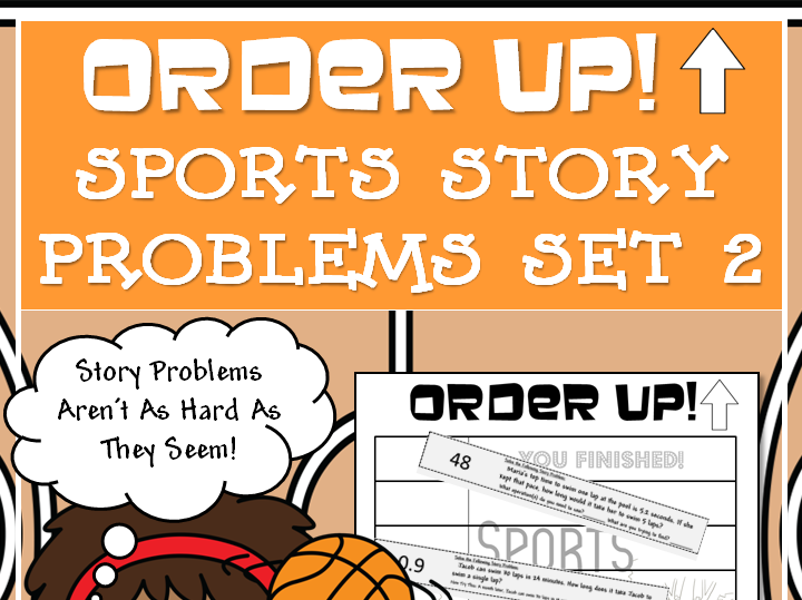 Sports Story Problems - Order Up! Set 2 (Basketball)