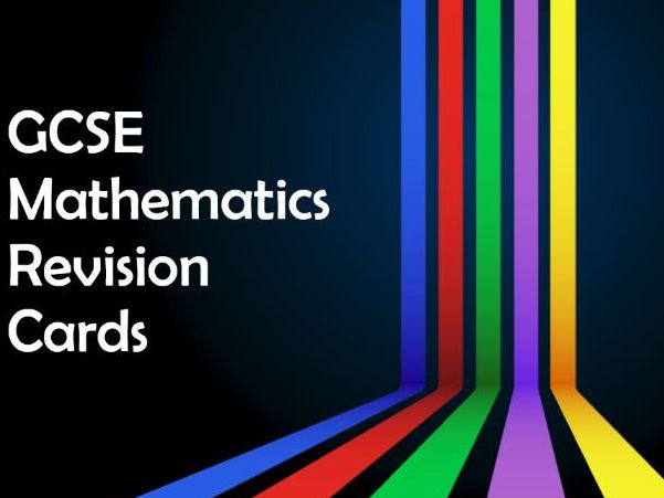 Revision Cards for WJEC Mathematics