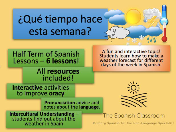 KS2/KS3 Weather in Spanish Half Term Topic - 6 Lesson Plans and Resources