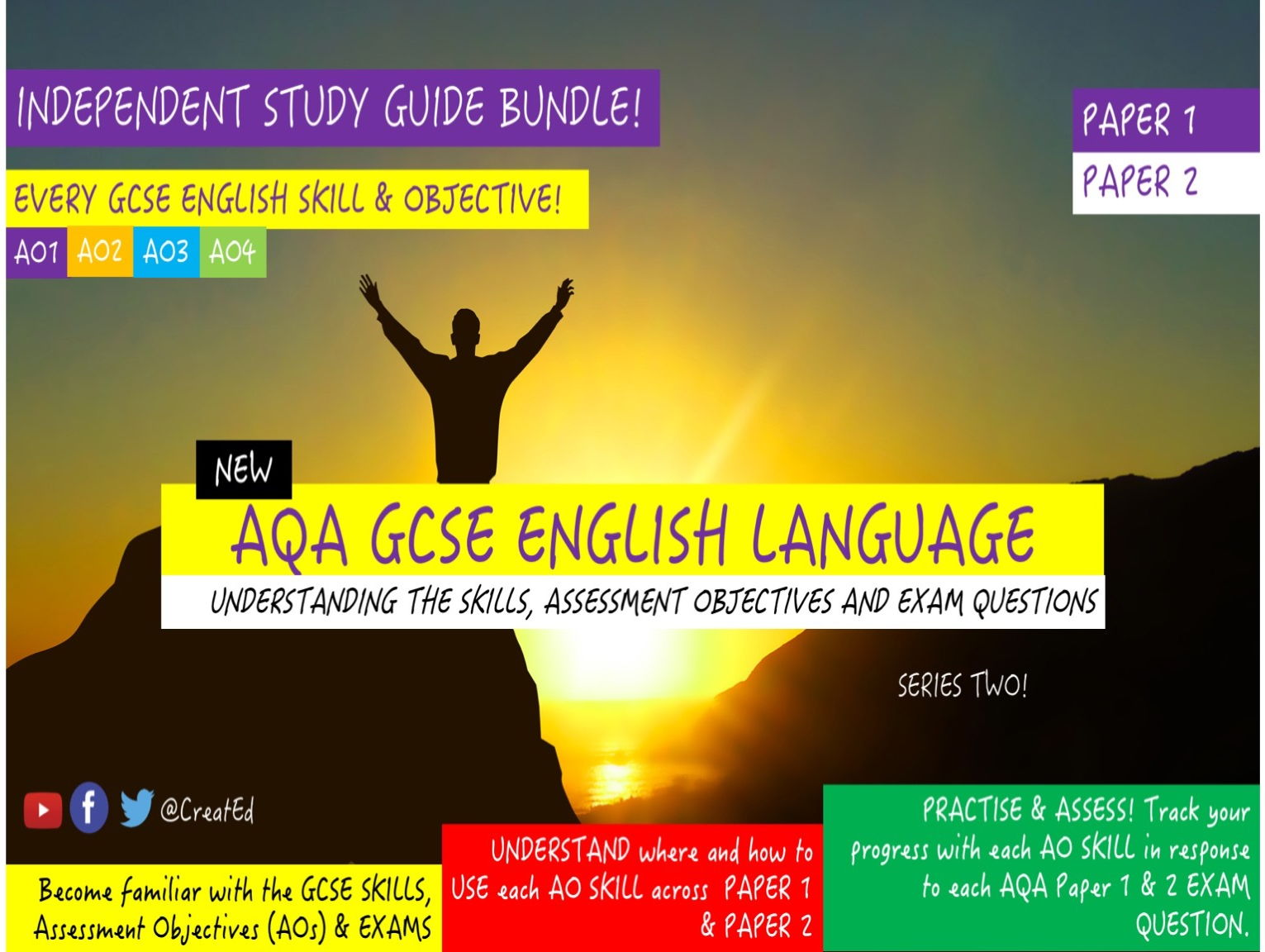 COMPLETE SERIES BUNDLE Revision Guide, NEW AQA GCSE English Language,