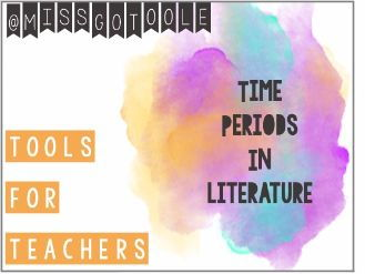 Literature Timeline/ Literary Time Periods