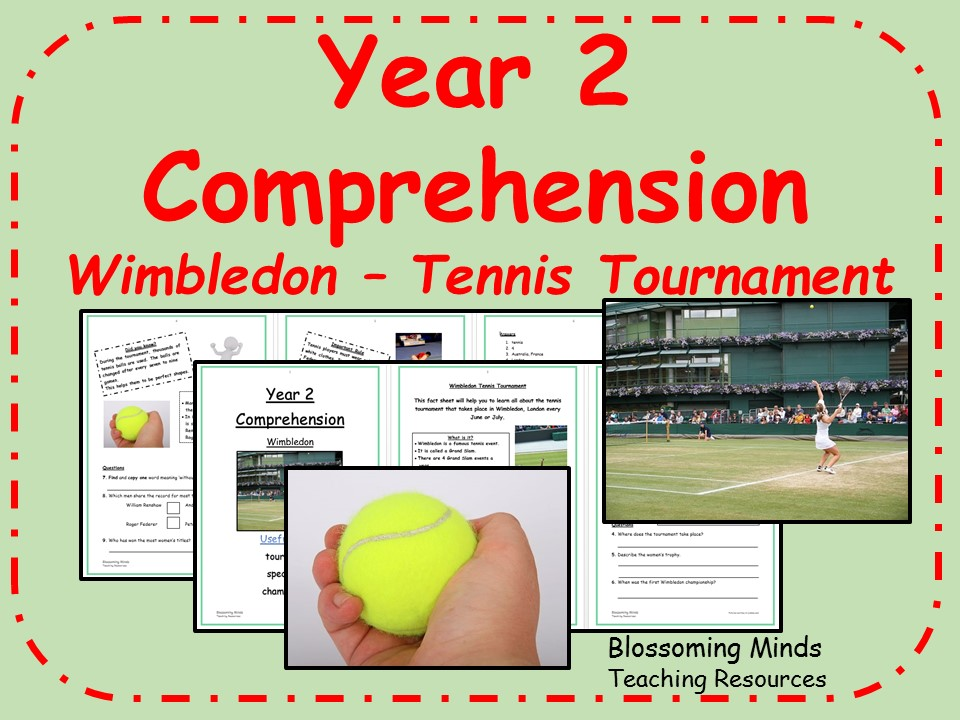 Year 2 non-fiction comprehension - Wimbledon tennis championships