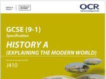 OCR GCSE HISTORY INTERNATIONAL RELATIONS GRADE 9 NOTES