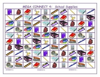 School supplies Mega Connect 4 game