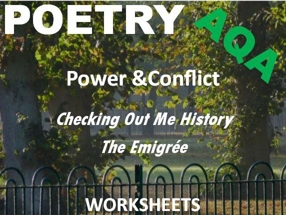GCSE Revision Power and Conflict: Checking Out Me History vs The Emigree