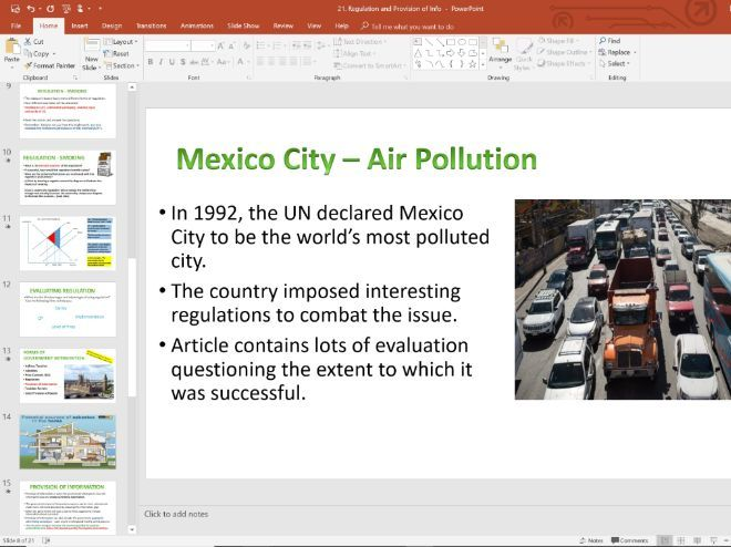 21. Regulation (Slides, Activities and Notes) - Edexcel A-Level Economics - Theme 1