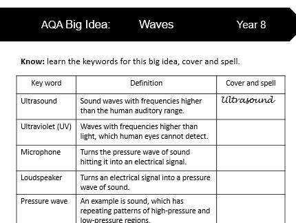 AQA KS3 Science Glossaries Part 2 (Year 8)