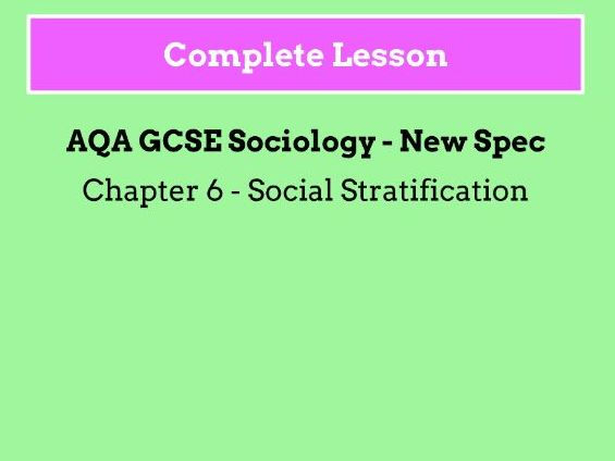 Lesson 5 - How is Social Class Measured?