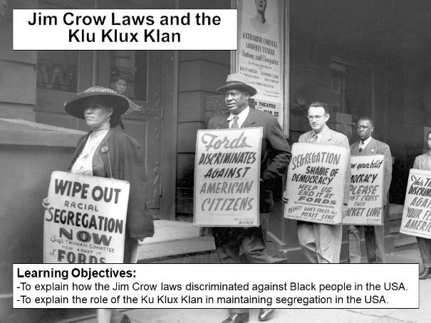 Jim Crow Laws and the Klu Klux Klan