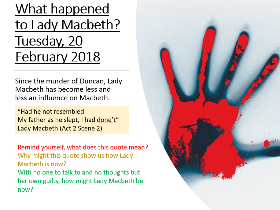 Macbeth: Macbeth Revision - Lady Macbeth