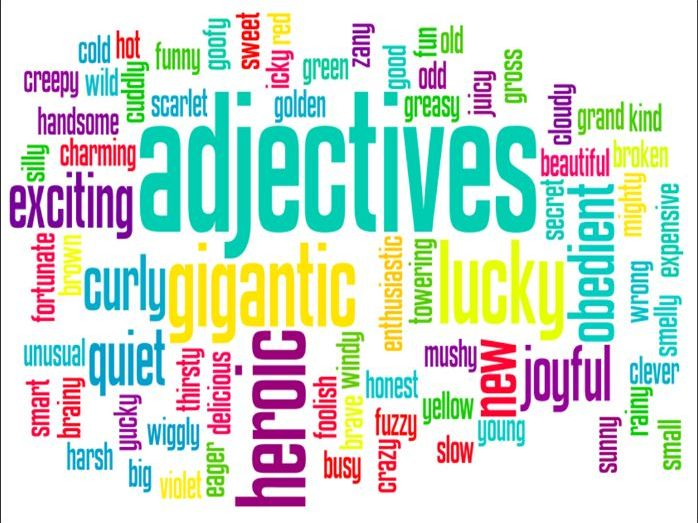 Adjectives' Worksheet 1 w/ Graphic Organizers (Full Key Included)