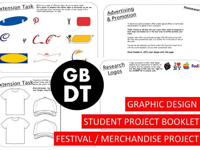 ENTIRE PROJECT - Graphics Project - Festival Poster / Merchandise Design