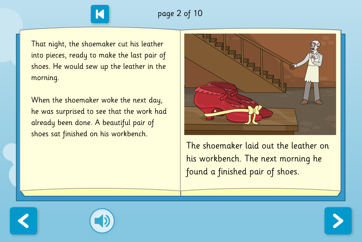 The Elves and the Shoemaker Interactive Storybook - Early Reader Level - Christmas KS1
