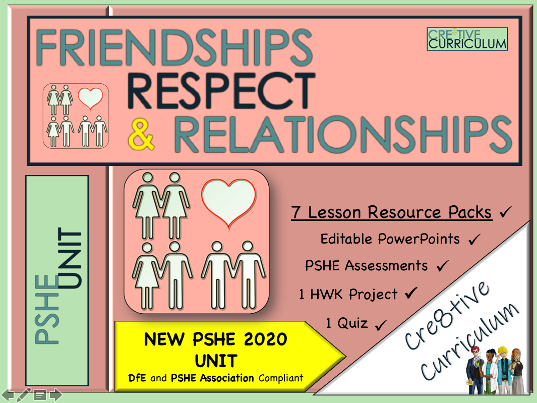 Friendships Respect Relationships PSHE Unit