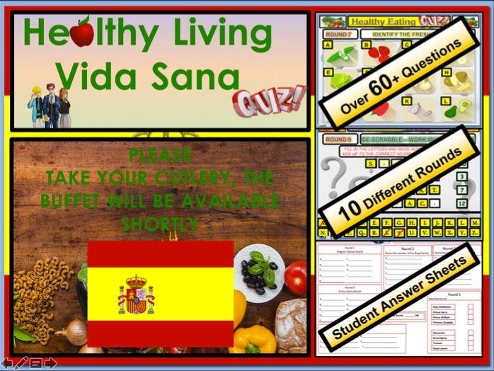 Spanish GCSE Healthy Eating - Vida Sana