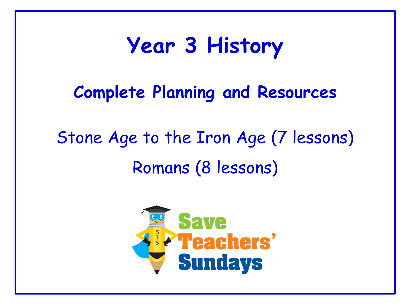 Year 3 History Planning and Resources