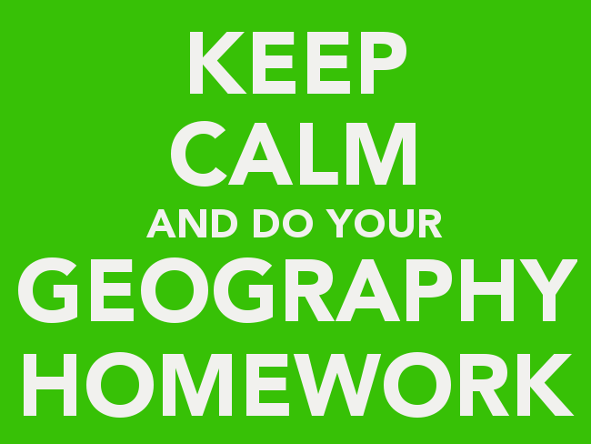 High school geography homework help