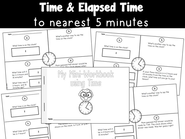 Mini Workbook Using Time and Elapsed Time