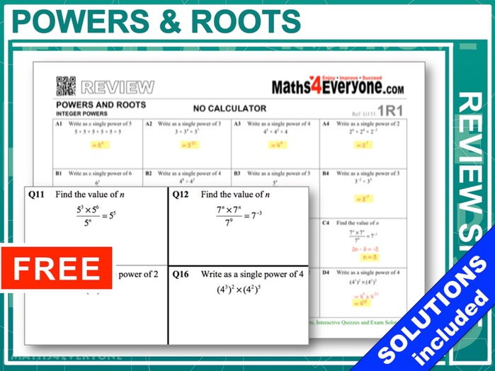 Powers and Roots (GCSE Revision)
