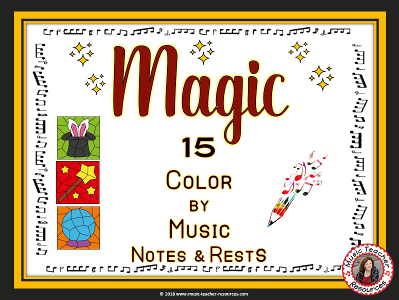 Music Coloring Pages: 15 Music Coloring Sheets with a MAGIC Theme