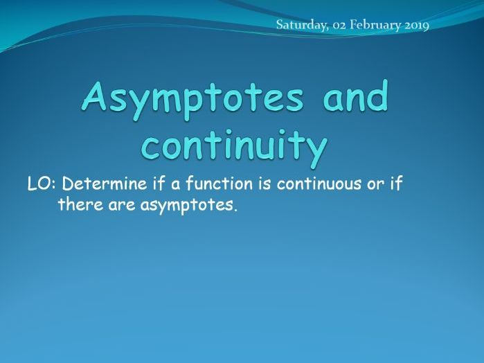 HL Mathematics: Asymptotes and continuity