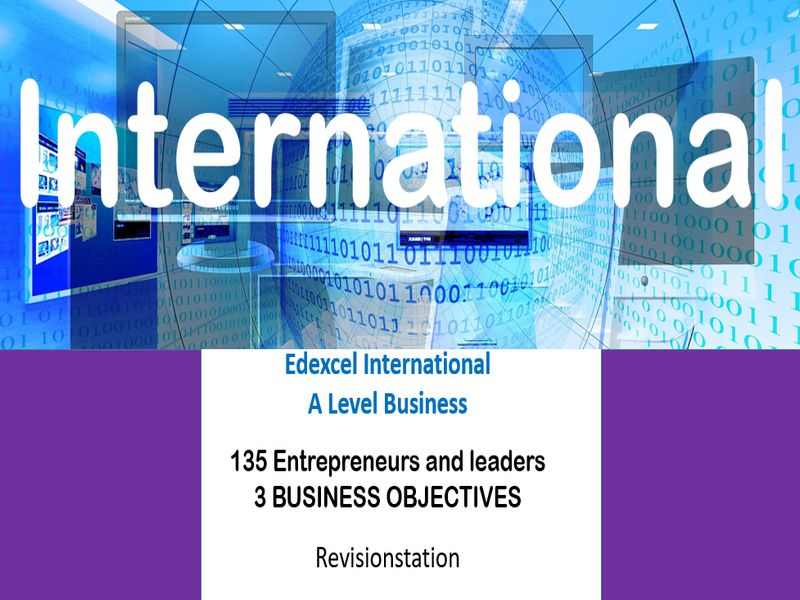 Pearson Edexcel International A Level Business (135) 3 Business objectives