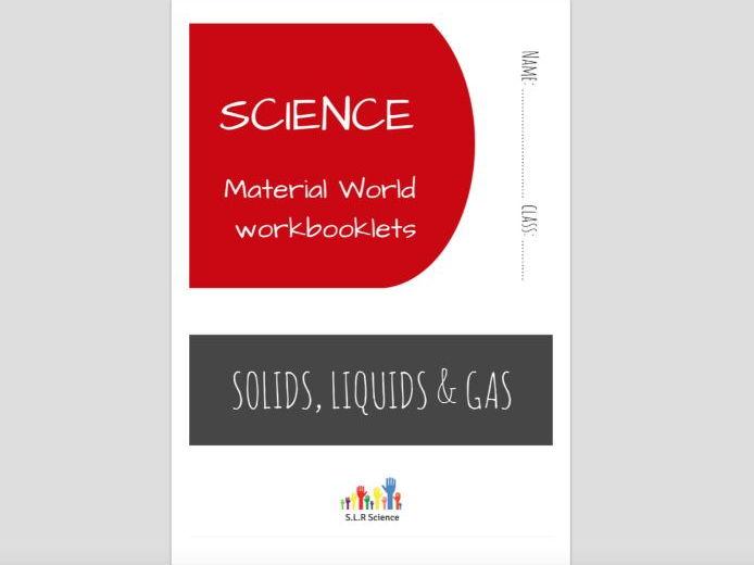 SPECIAL EDUCATION (SCIENCE) - SOLIDS, LIQUIDS, GASES, TEMPERATURE science workbooklet