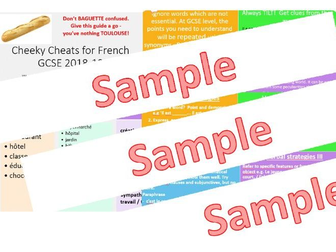 GCSE French 2018-19:  Tips and Tricks to Save Time and Boost Your Grade